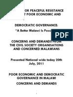 Malawi Petition