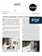 NASA Facts the MILA Spaceflight Tracking and Data Network Station 2002