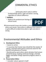 Environmental Ethics Notes