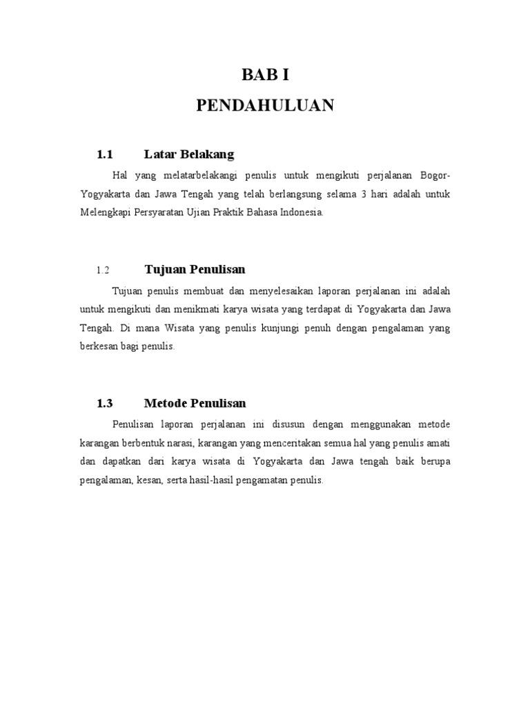 Contoh Laporan Perjalanan Study Tour Jakarta Bandung Kumpulan Contoh Laporan