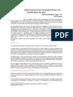 Remolina Vargas Gerardo La Responsabilidad Social de La Universidad Frente a La Problematic A Del Pais 2008