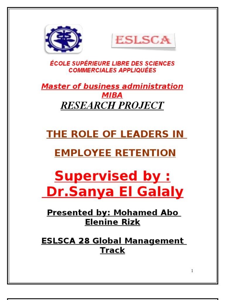 Dissertation proposal on employee retention