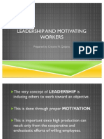Leadership and Motivating Workers- Cristine