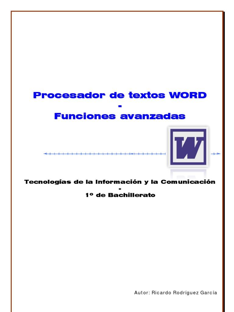 Prácticas de Word - Bachillerato