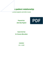 Doctor-Patient Relationship - Cultural Aspects and Other Issues - Adel Adly Ragheb