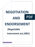 Negotiation Endorsement