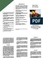 Brochure ~ Barn Fire Prevention