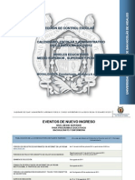 Calendario escolar UMSNH 2011-2012