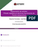 Tranformada fraccional de Fourier