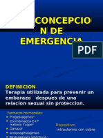 ANTICONCEPCION DE EMERGENCIA