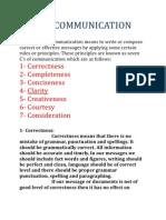 7C of Communication