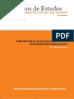 A Import an CIA Do Bolsa Familia Nos Municipios Brasileiros No 01