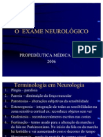 3oANO.semiO.aula - Exame Neurologico - 2006