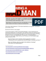 Becoming a Mad Man by Bud Caddell