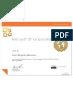 Sonia Albarracin Certificado Microsoft Excel 2007