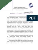 Resumen Libro Tecnicas Actuales de Investigacion Documental