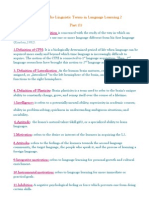 Glossary of Linguistic Terms 1