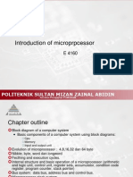 E 4160 Introduction to Microprocessor