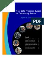 2012 Budget Book