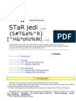 Star Jedi Font Guide Word97
