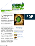 Is Environmentalism a Religion