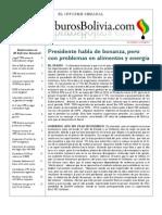Hidrocarburos Bolivia Informe Semanal Del 01 Al 07 Agosto 2011