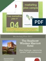 hospitalitymarriottheathrowlondonmarketingplan-110402111928-phpapp01