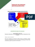 Materiales Peligrosos Identificación NFPA