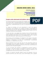 Abeama News Abril 2011