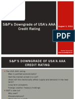 S&P's Downgrade of USA's AAA Credit Rating