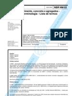 NBR NM 02 - 2000 - Cimento Concreto e Agregados - Terminologia