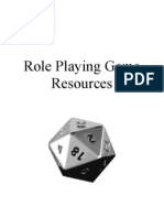 Role Playing Game Resources