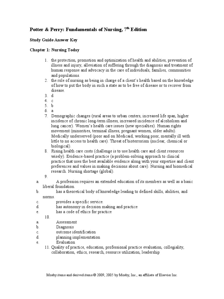 Nursing study guide answer key clinical trial nursing fandeluxe Choice Image