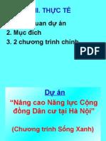Chuong Trinh Song Xanh-doan Binh Dinh - Presentation Hieu