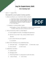 Pre TEST -Supervisory Skill Prg-ccpl