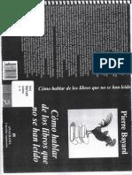 Como hablar de los libros que no se han leído (f), Pierre Bayard