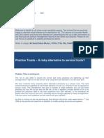 Best Practice News Alert No 124 - Practice Trusts vs Service Trusts