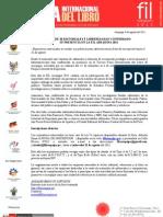 Más de 20 editoriales y librerías han confirmado su presencia en la FIL Arequipa 2011
