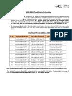 CL 2011 Schedule