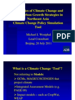 Climate Change Policy Simulation Tool