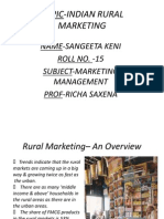 Topic-Indian Rural Marketing