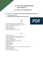 Security Analysis and Portfolio Management Faq