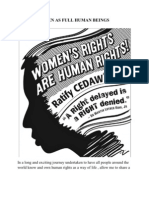 WOMEN AS FULL HUMAN BEINGS