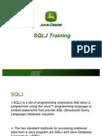 SQLJ Training