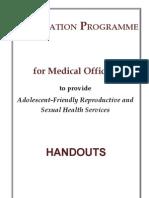Adolescent Health and Development (AHD) MO Handout Full