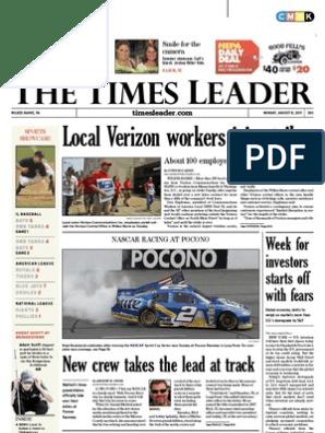 Times Leader 08-08-2011 | Powerball | Verizon Communications
