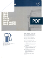 Mercedes W124 Instrukcja Obslugi ENG