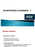 Manpower Planning - Setting the Tone