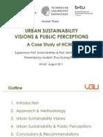Urban Sustainability - Presentation