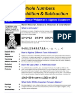 Professor Weissman's Algebra Classroom 02 Addition Subtraction Whole